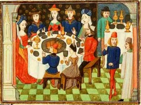 alimentazione nel medioevo molto spesso durante il pasto