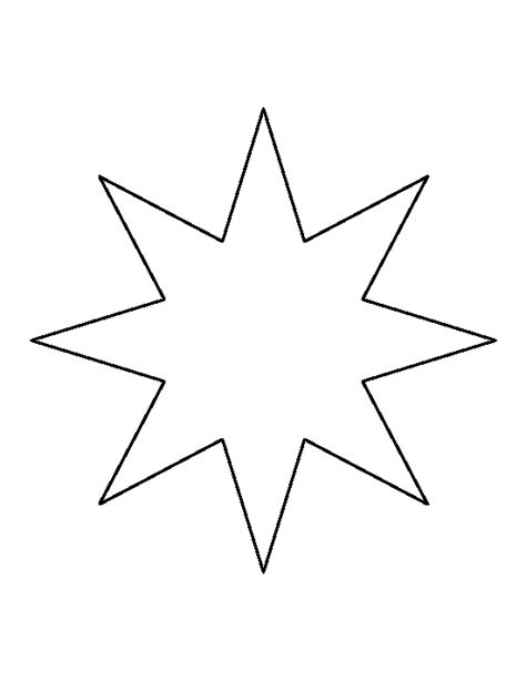 printable bethlehem star pattern use the pattern for star outline eight point star pattern use the printable