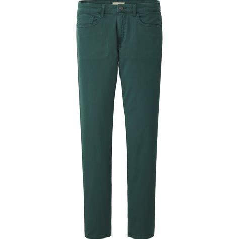Uniqlo Stretch Fit Black Colour uniqlo stretch slim fit tapered color in green for lyst