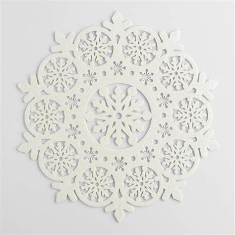 ivory felt snowflake placemats set of 4 world market