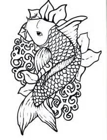free koi fish coloring sheet
