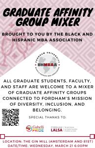 Fordham Black And Hispanic Mba Association by G Bhmbaa Graduate Affinity Mixer 187 Gabelli Connect