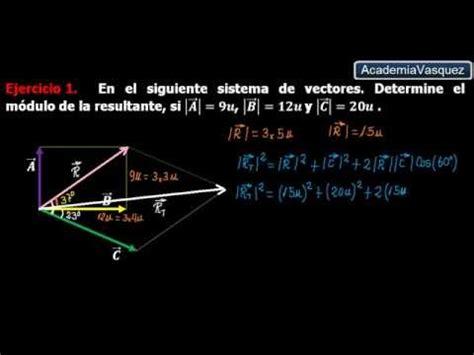 ley de cosenos vectores ley de cosenos con vectores ejercicio 1 youtube