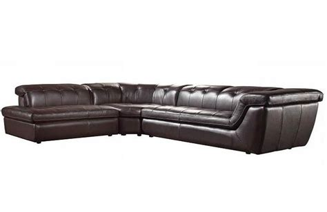 espresso sectional espresso leather sofa sectional vg97 leather sectionals
