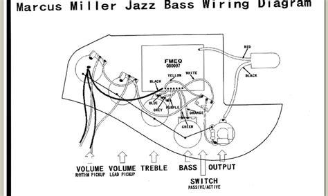 fender marcus miller iv wiring diagram talkbasscom