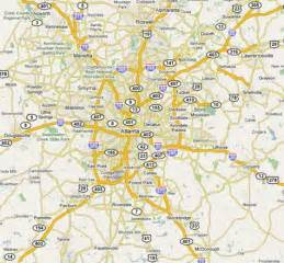 atlanta area map atlanta ga pm2 5 nonattainment area map see detailed
