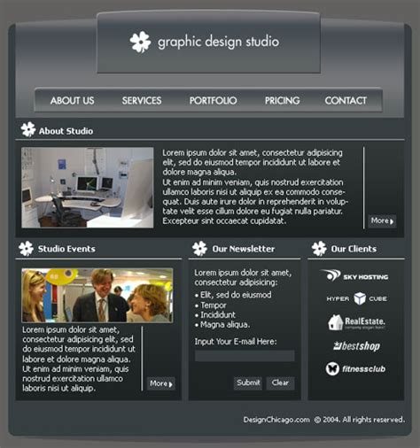 layout design for photoshop graphic design studio web layout