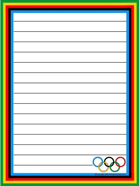 printable stationary worksheet olympic stationery primarygames com free printable