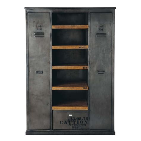 wandschrank industrial antiqued metal industrial closet w 135cm manufacture