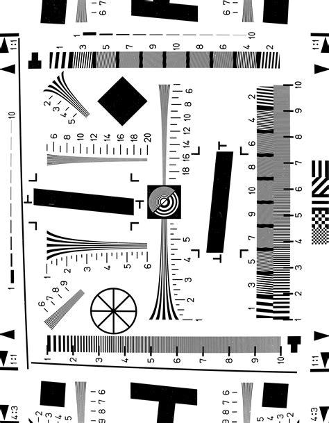 photography test pattern digital camera resolution test procedures