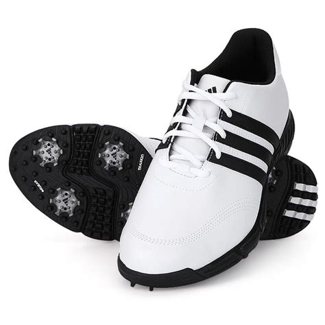 new mens adidas golflite 4 nwp wd white black golf shoes size 7 5 uk wide