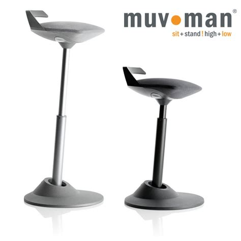 Sitting Stool by Muvman Sit Stand Stool Healthy Workstations