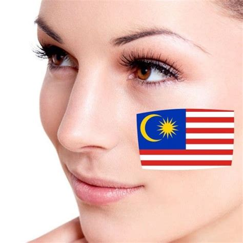 tattoo cost in malaysia 10pcs waterproof flag of malaysia facial tattoo temporary