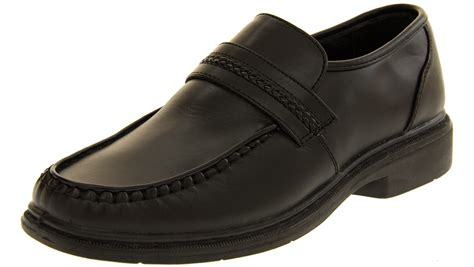 school shoes for size 7 mens slip on formal shoes work loafers boys school shoe