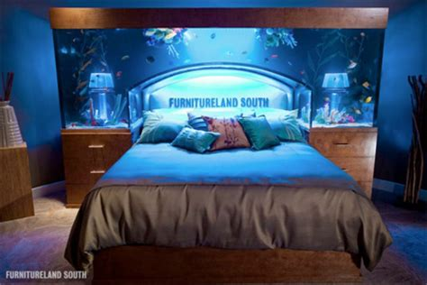 aquarium bed headboard aquarium bed