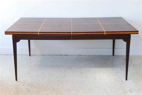 Modern Mahogany Dining Table Modern Mahogany And Maple Parquetry Inlaid Dining Table By Tommi Parzinger For Sale At 1stdibs