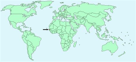 gambia world map where is gambia located on the world map