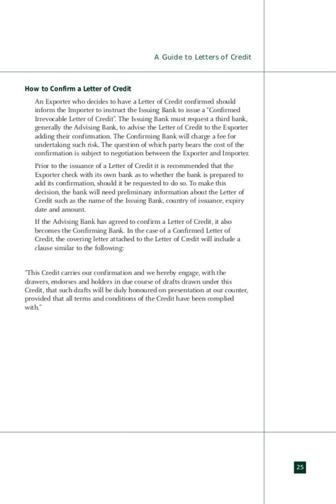 Confirming Bank Letter Of Credit Import Export Guide Letter Of Credit