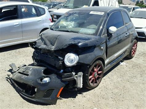 2015 fiat 500 abarth black damaged front specialized