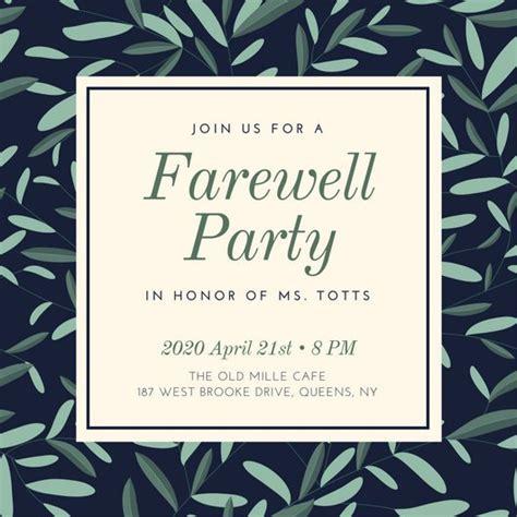 farewell invitation template invitations stunning farewell invitation ideas