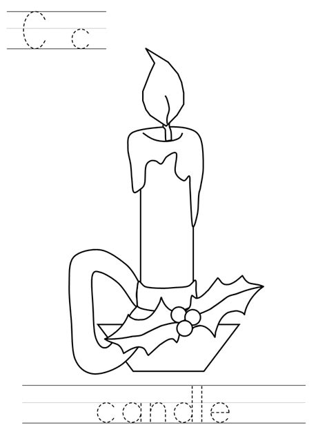 dltk coloring pages for christmas wreaths and candles coloring pages