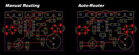 layout of pcb contemporary electrical circuit
