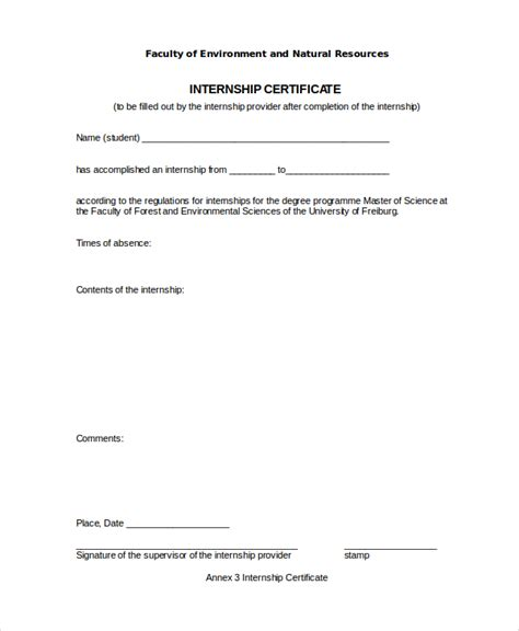 application letter for internship certificate internship certificate template 16 free word pdf