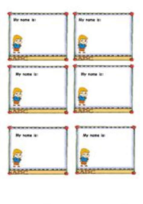 esl printable name tags english teaching worksheets names
