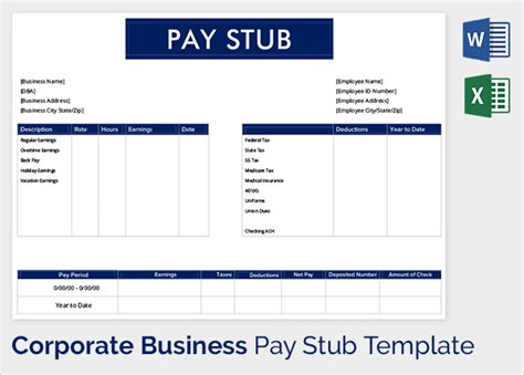 pay stub form excel good resume format