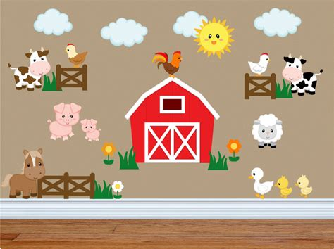 animal stickers for walls wall decals for bedroom farm animal wall decals farm