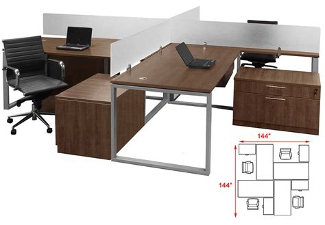 four person office desk trendspaces 2 person basic benching workstation