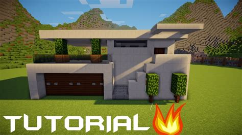 minecraft tutorial  membuat rumah modern  youtube