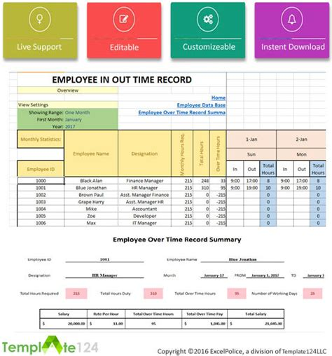 excel overtime spreadsheet template printable employee payroll template excel 2017 template124