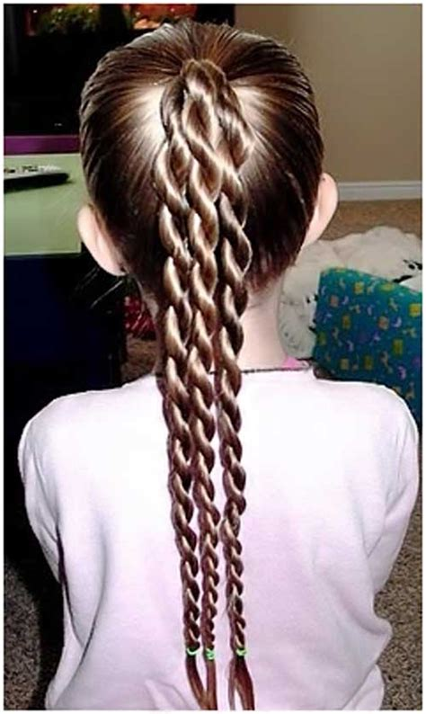 easy triple braided hairstyle babes in hairland top 13 trendy hairstyles for kids pony hairstyles and pony
