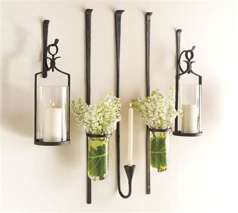 Wall Vase Sconce by Artisanal Wall Mount Vase Pottery Barn Glass Wall Vase