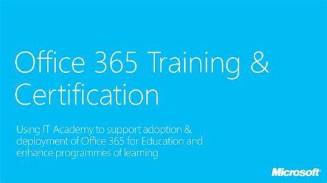 Office 365 Certification Office 365 It Academy