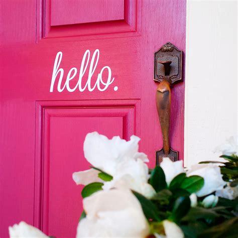 Hello Door Decal by Hello Door Decal