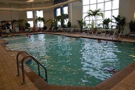 indoor pool open  midnight picture  hilton suites ocean city oceanfront ocean city