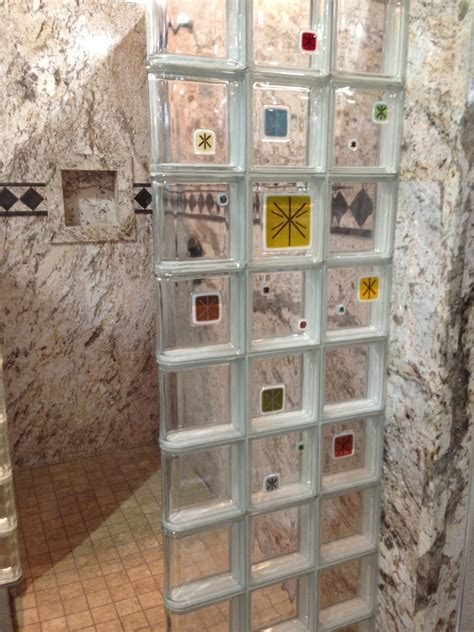 glass block bathroom shower ideas new colorful glass tile block showers and decorative wall