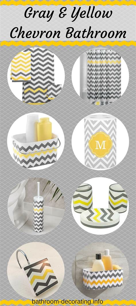 Chevron Bathroom Decor Chevron Bathroom Decor Chevron Yellow And Grey Bathroom Accessories