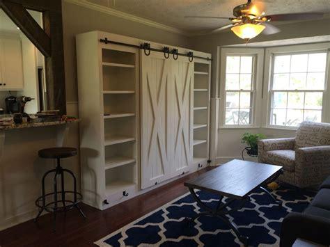 white sliding door desk entertainment center with sliding barn doors diy