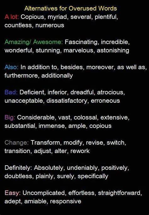 alternatives for overused words