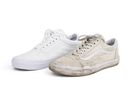 how to clean white vans shoes that turned yellow