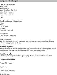 Resignation Letter Templates Forms Pinterest Resignation Letter Letter Templates And Template Sle Resignation Letter Template