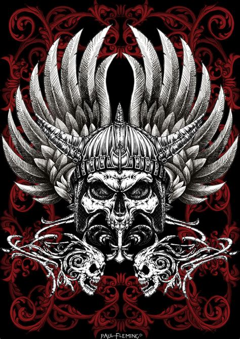 warrior skull by oblivion design on deviantart