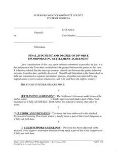 Divorce Settlement Agreement Template 6 divorce settlement agreement samplereport template