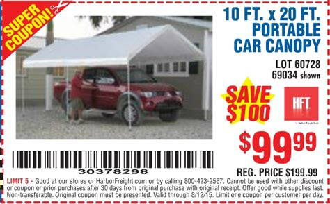 10 Ft X 20 Ft Portable Car Canopy - harbor freight 10 x 20 canopy 10x20 canopy