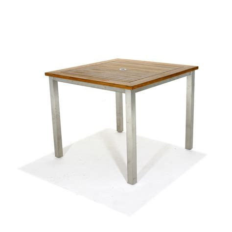 Teak Bistro Table And Chairs Teak And Stainless Steel Dining Set Westminster Teak Outdoor Furniture