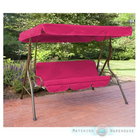 replacement swing replacement 3 seater swing seat canopy cover and cushions