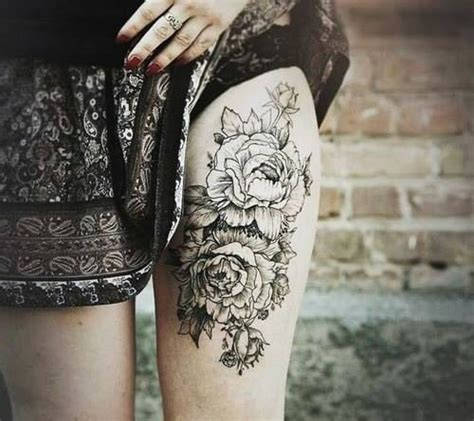 rose thigh tattoos tumblr thigh high pictures photos and images for